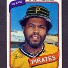 1980 Topps Baseball #055 Bill Madlock - Pittsburgh Pirates Vg