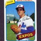 1980 Topps Baseball #042 Dave Palmer - Montreal Expos