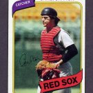 1980 Topps Baseball #040 Carlton Fisk - Boston Red Sox