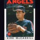 1986 Topps Baseball #628 Kirk McCaskill RC - California Angels