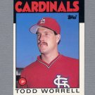 1986 Topps Traded Baseball #127T Todd Worrell RC - St. Louis Cardinals