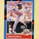 1988 Donruss Baseball #368 Kirby Puckett - Minnesota Twins