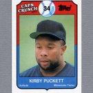 1989 Topps Cap'n Crunch Baseball #20 Kirby Puckett - Minnesota Twins