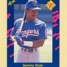 1990 Classic Blue Baseball #140 Sammy Sosa - Texas Rangers NM-M
