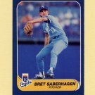 1986 Fleer Baseball #019 Bret Saberhagen - Kansas City Royals