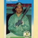 1987 Fleer Update Glossy Baseball #099 Luis Polonia - Oakland A's
