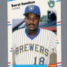 1988 Fleer Update Baseball #038 Darryl Hamilton RC - Milwaukee Brewers