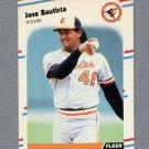1988 Fleer Update Baseball #001 Jose Bautista RC - Baltimore Orioles