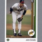 1989 Upper Deck Baseball #017 John Smoltz RC - Atlanta Braves