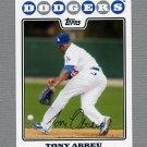 2008 Topps Update Baseball #UH265 Tony Abreu - Los Angeles Dodgers