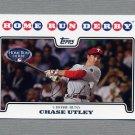 2008 Topps Update Baseball #UH184 Chase Utley HRD - Philadelphia Phillies