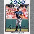 2008 Topps Update Baseball #UH168 Ben Zobrist - Tampa Bay Rays