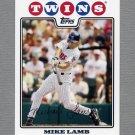 2008 Topps Update Baseball #UH115 Mike Lamb - Minnesota Twins