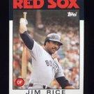 1986 Topps Baseball #320 Jim Rice - Boston Red Sox