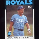 1986 Topps Baseball #300 George Brett - Kansas City Royals