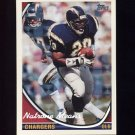 1994 Topps Special Effects Football #450 Natrone Means - San Diego Chargers