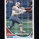 1994 Topps Special Effects Football #406 Glenn Montgomery - Houston Oilers