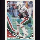 1994 Topps Special Effects Football #375 Terry Kirby - Miami Dolphins