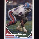 1994 Topps Special Effects Football #070 Shannon Sharpe - Denver Broncos