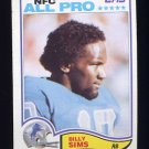 1982 Topps Football #349 Billy Sims - Detroit Lions