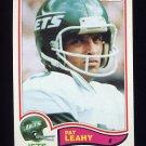 1982 Topps Football #173 Pat Leahy - New York Jets