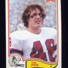 1982 Topps Football #148 Tim Fox - New England Patriots