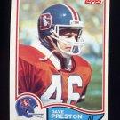 1982 Topps Football #085 Dave Preston - Denver Broncos
