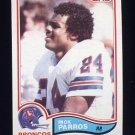 1982 Topps Football #084 Rick Parros - Denver Broncos