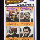 1982 Topps Football #036 Cincinnati Bengals Team Leaders