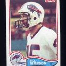 1982 Topps Football #034 Bill Simpson - Buffalo Bills