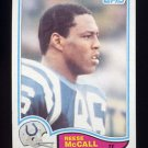 1982 Topps Football #018 Reese McCall - Baltimore Colts