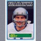 1983 Topps Football #392 Jeff West - Seattle Seahawks