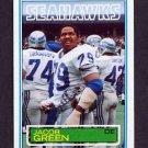 1983 Topps Football #385 Jacob Green RC - Seattle Seahawks