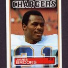 1983 Topps Football #372 James Brooks - San Diego Chargers