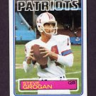 1983 Topps Football #329 Steve Grogan - New England Patriots