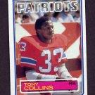 1983 Topps Football #328 Tony Collins - New England Patriots