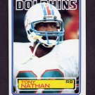 1983 Topps Football #317 Tony Nathan - Miami Dolphins