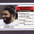 1983 Topps Football #230 Cincinnati Bengals Team Leaders / Pete Johnson