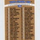 1996 Stadium Club Football #NNO Checklist