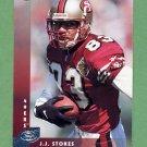 1997 Donruss Football #047 J.J. Stokes - San Francisco 49ers