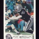 1999 Fleer Focus Football #065 Tim Brown - Oakland Raiders