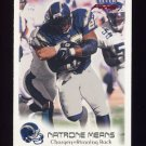 1999 Fleer Focus Football #026 Natrone Means - San Diego Chargers