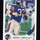1999 Fleer Focus Football #021 Gary Brown - New York Giants