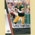 2007 Absolute Memorabilia Spectrum Black Football #033 Brett Favre - Green Bay Packers /100