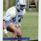 1993 Ultra Football #130 Ryan McNeil RC - Detroit Lions
