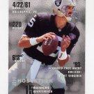1995 FACT Fleer Shell Football #049 Jeff Hostetler - Oakland Raiders