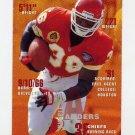 1995 FACT Fleer Shell Football #048 Kimble Anders - Kansas City Chiefs
