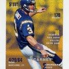 1995 FACT Fleer Shell Football #028 John Carney - San Diego Chargers