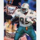 1995 FACT Fleer Shell Football #018 Tim Bowens - Miami Dolphins ExMt