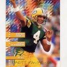 1995 FACT Fleer Shell Football #012 Brett Favre - Green Bay Packers Ex